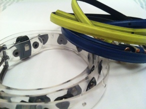 Bright (Esprit) and transparent (Top Shop) belts