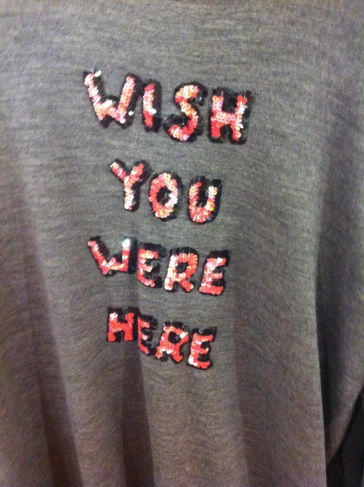 """Marcus Lupfer """"Wish You Were Here"""" sweater, mid-grey, available at Selfridges, £290"""