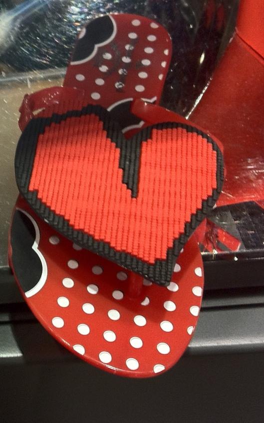 Harmonic Heart Flip Flop, Meliisa + Vivienne Westwood Anglomania Collection,  £85