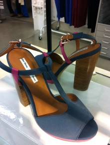 Satin sandals, £45