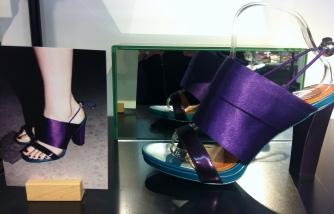 Satin sandals, £65