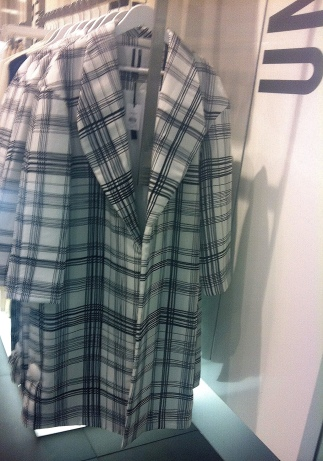 Quilted silk check coat, Unique at Top Shop, £250