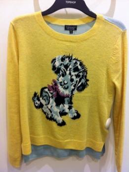 Knitted dog motif jumper, Top Shop, £42