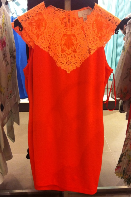 Violina lace top jersey dress, Ted Baker, £119