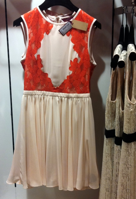 Vember lace colour block dress, Ted Baker, £149