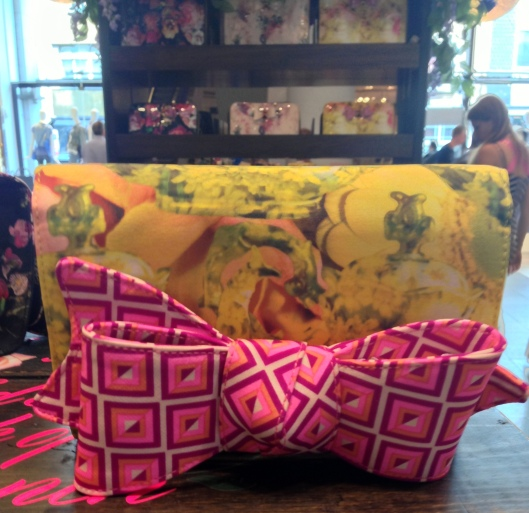 Teata, tea party bow clutch, £69